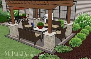 Patio Designs Plans Simple Brick Patio With Pergola Patio Designs And Ideas Home Decoras