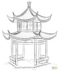 coloriage pagode chinoise coloriages 224 imprimer gratuits
