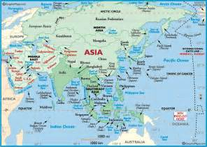 Where Is Asia On The Map by Maps Of Asia Countries