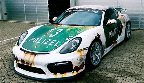Autofolie Used Look by Rust Wrap Car Porsche Cayman Gt4 By Wrapstyle