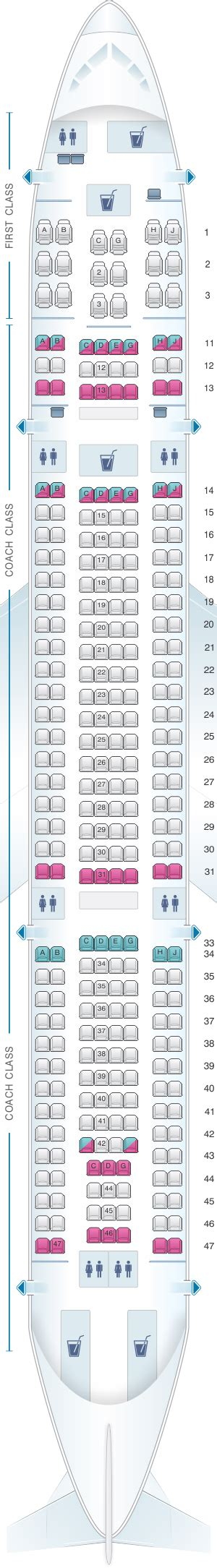 airbus a332 seat map seat map hawaiian airlines airbus a330 200 seatmaestro