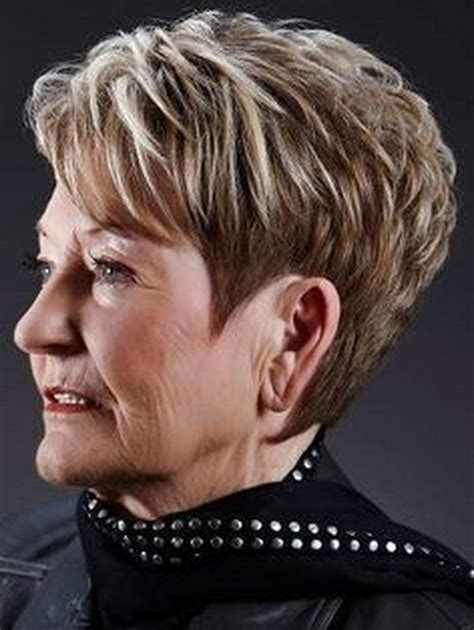 hair style for women over 60 with very thin hair very short hairstyles for women over 60