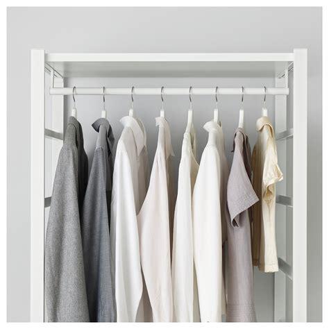 White Clothing Wardrobe Elvarli Clothes Rail White 80 Cm Ikea