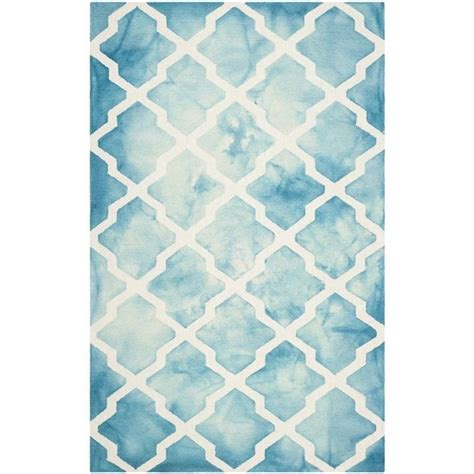 turquoise runner rug safavieh dip dyed turquoise contemporary rug runner 2 6 quot x 4 ddy540d 24