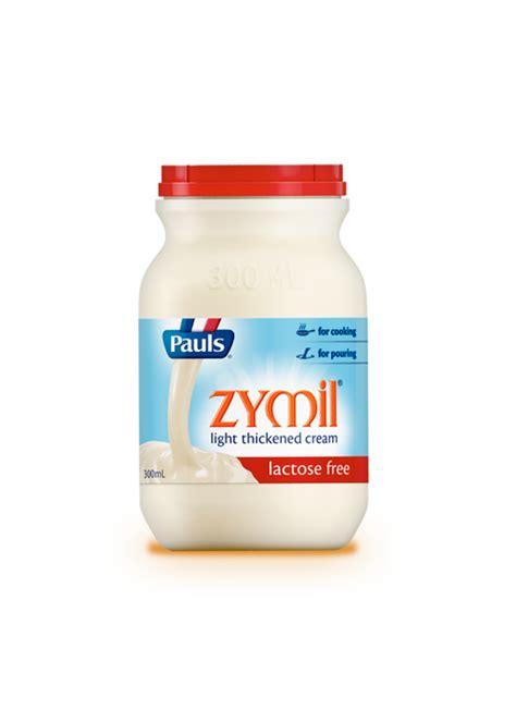 lactose free light cream zymil light thickened cream