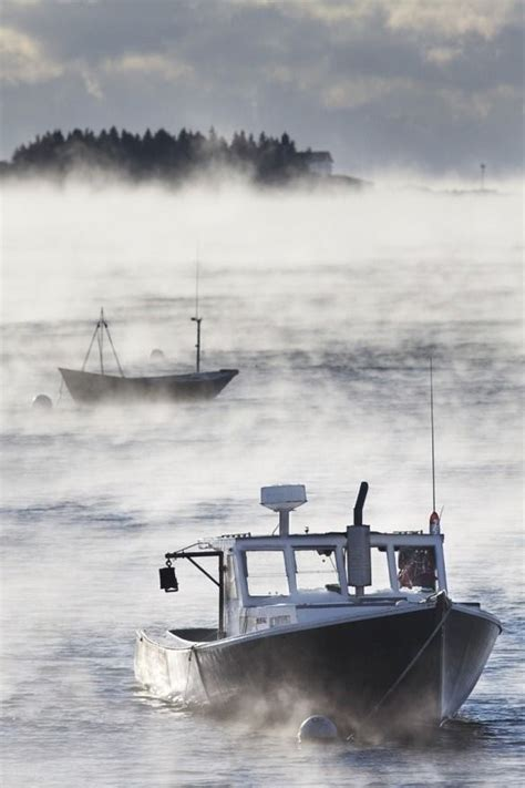sea smoke sea smoke over rockport harbor maine nautical pinterest
