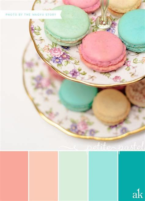 peach and green colour owambe gold peach coral mint color palette pastel macaron