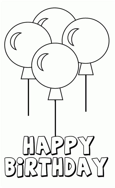 easy birthday coloring pages birthday balloon coloring page az coloring pages