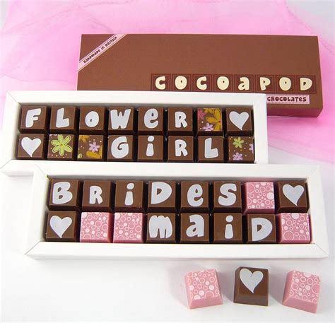 personalised chocolates for weddings by chocolate by