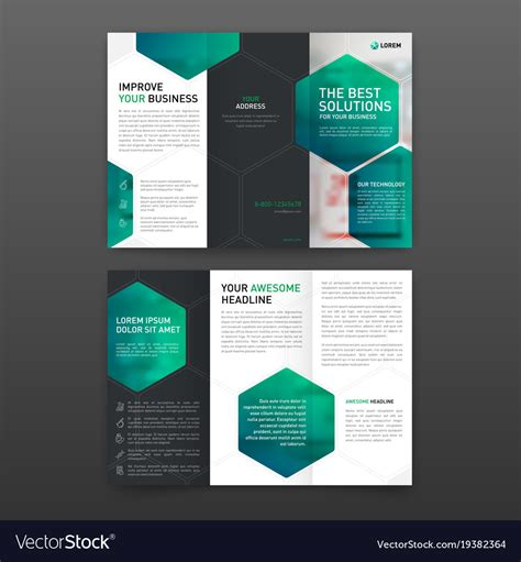tri folded brochure templates pharmaceutical brochure tri fold template layout vector image
