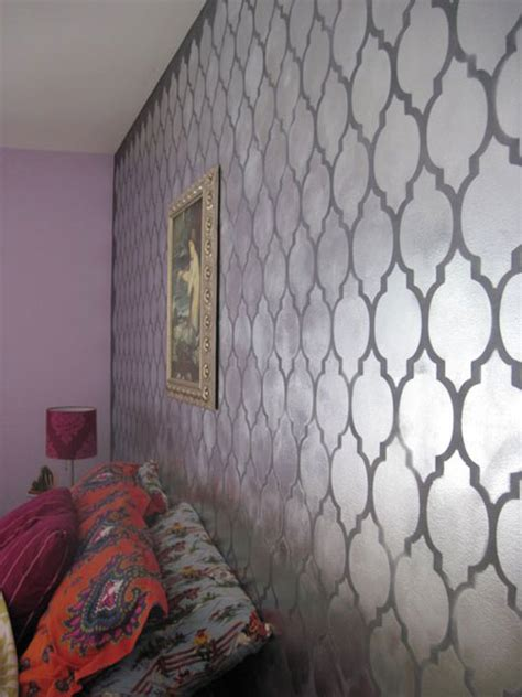 wall paint templates cutting edge stencils don t be a bore use metallic wall