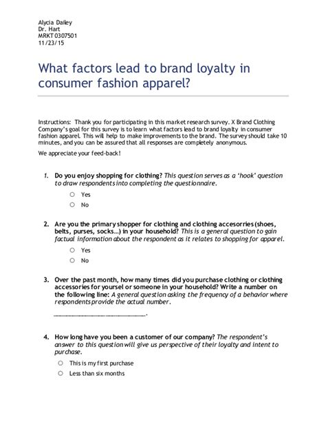 Take A Fashion Survey At The Bargain by What Factors Lead To Brand Loyalty In Consumer Fashion