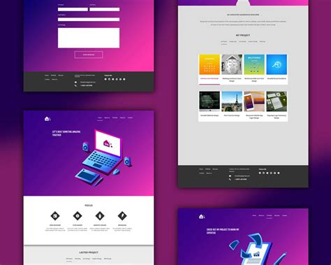 Free Website Portfolio Templates by Free Portfolio Website Templates Psd Psd