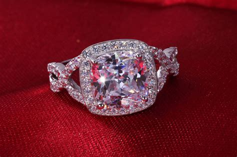 wholesale 3 carat synthetic wedding ring lasting