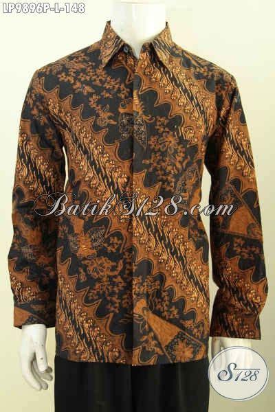 Baju Batik Resmi Elegan baju batik modern pria motif klasik model lengan panjang kemeja batik elegan khas jawa tengah