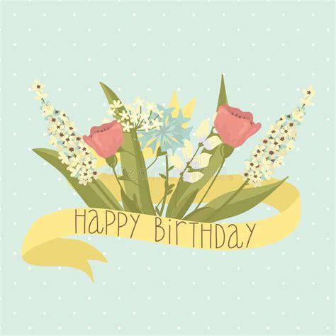 cartoline buon compleanno con fiori cartolina d auguri di buon compleanno con i fiori