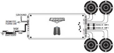 kicker wiring diagram stereo four channel operation