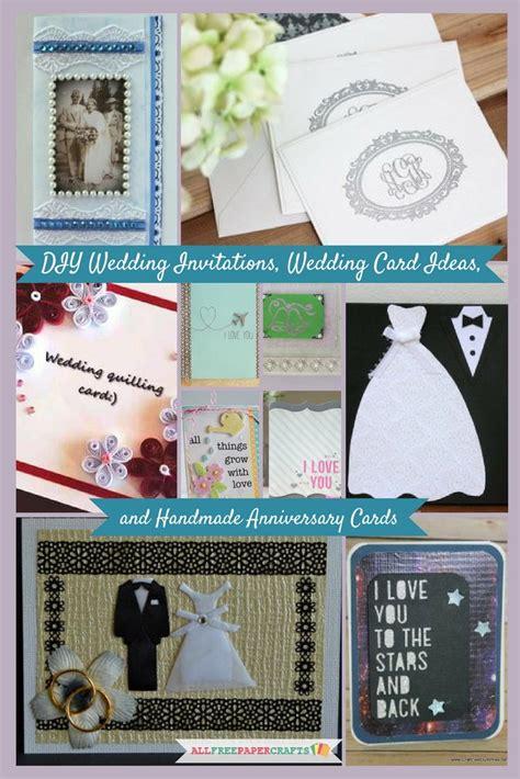 diy wedding invitations wedding card ideas  handmade anniversary cards