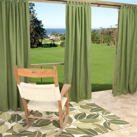 Sunbrella Curtains Patio Sunbrella Spectrum Cilantro Outdoor Curtain With Tabs 50 In X 96 In Essentials By Dfo Sku