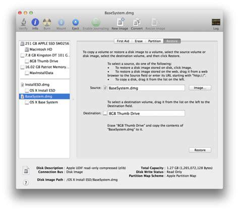 how to format external hard drive mac mavericks make a bootable install drive for newer mac preinstalled