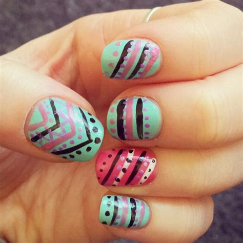 aztec pattern nail art pinterest st nail art