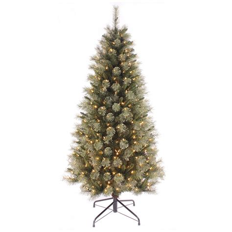 6ft green pine artificial pre lit warm white fairy led