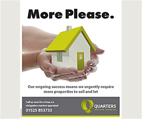 leaflet design for estate agents no beating around the bush with the message on this estate