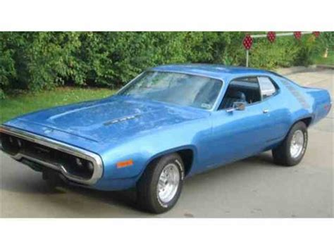 plymouth roadrunner 1971 1971 plymouth road runner for sale on classiccars 8