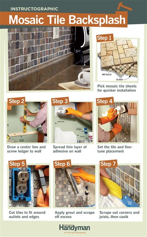 how to tile a backsplash the family handyman 146 best images about weekend projects on pinterest