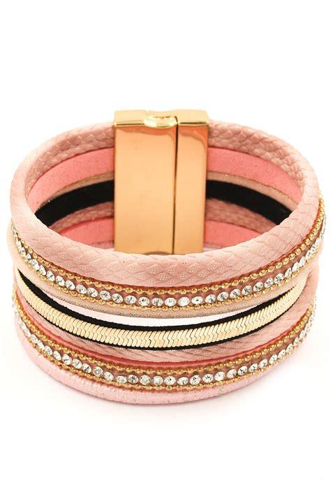Rhinestone Faux Leather Bracelet faux leather rhinestone wrap bracelet bracelets