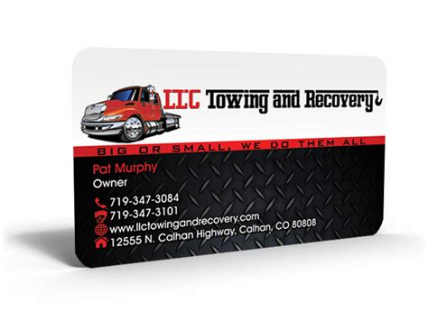 Towing Business Cards Templates by Business Card Design Design For Jackie Murphy A Company