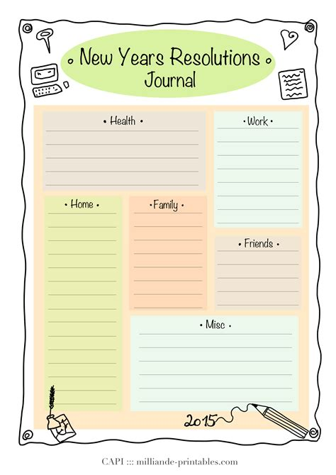 New Years Goals Template resolution new year printable 2015 day planner printables journal lists