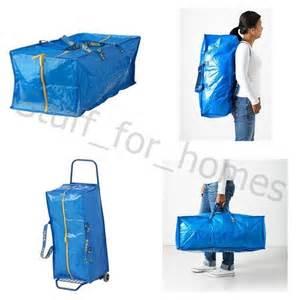 ikea frakta 2x ikea frakta 76l large zipped storage laundry bag trunk
