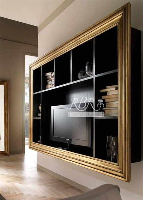porta tv cornice libreria porta tv in legno massiccio di frassino su