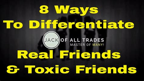 8 Ways To Identify Toxic by 8 Ways To Differentiate Real Friends And Toxic Friends