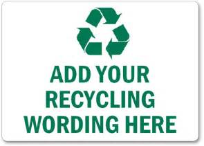 free recycling signs customize download amp print