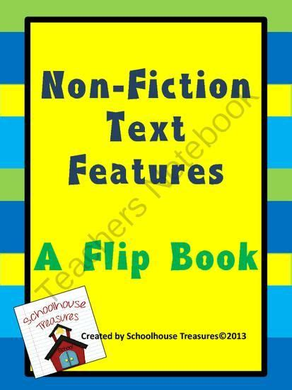 8 Books About Cats Fiction And Non Fiction by Non Fiction Text Features A Flip Book From Schoolhouse
