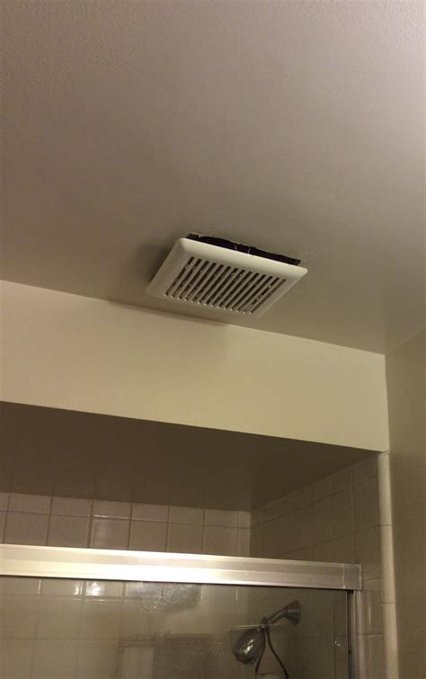bathroom cover bathroom is it normal for an exhaust fan cover to hang