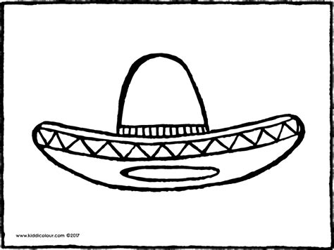 sombrero coloring page coloring pages ideas reviews