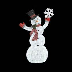Lighted Snowman Outdoor Home Accents 61 75 In Led Lighted Acrylic Snowman With Snowflake Ty436 1611 The Home