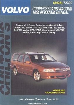 chilton car manuals free download 1998 volvo c70 seat position control 1990 1998 volvo coupes sedans wagons chilton s total car care manual