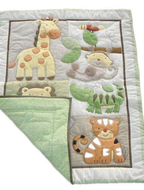 Giraffe Elephants Monkeys Jungle Animals Boy Baby Crib Baby Boy Monkey Crib Bedding Sets