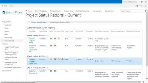 how to create 3 minute status reports in sharepoint 2013