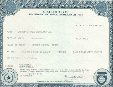 Bexar County Birth Records Travland Ancestry