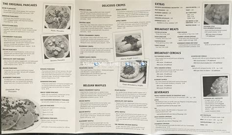 original pancake house chicago the original pancake house carry out menu chicago scanned