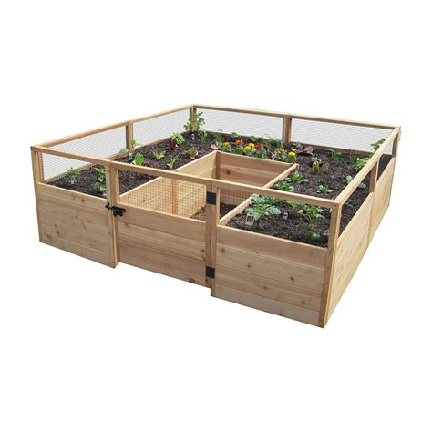raised cedar garden bed hewetson lawn garden wooden garden beds 8 x 8 raised