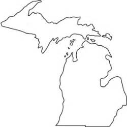 template of michigan michigan outline drawing clipart best