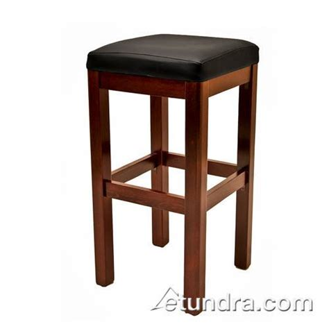 oak wb122 mh wood stool w mahogany wood seat