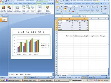 membuat animasi garis pada power point cara membuat diagram grafik di excel 2007 membuat grafik