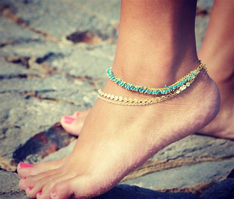 Chain Anklet lovmely anklet chain turquoise coral or white
